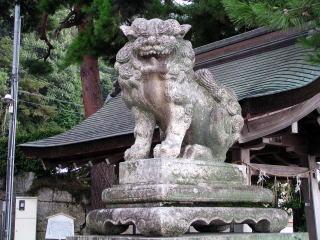 狛犬(拝殿前向かって右=阿形